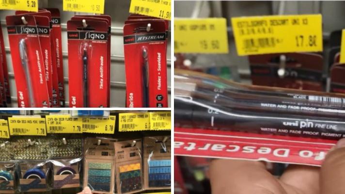Essas são as canetas da Uniball Fine Line Pin